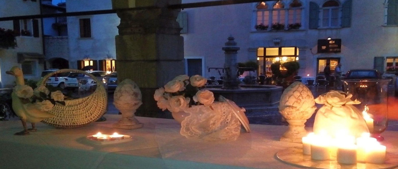 cena in bianco a Venzone